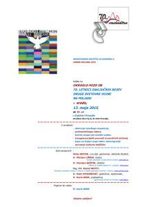Okrogla miza: Svobodi in miru, Ob 70. letnici zadnjih bojev v II. svetovni vojni, Knjižnica Prevalje, 13. 5. 2015